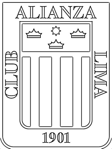 club alianza lima logo da colorare disegni da colorare