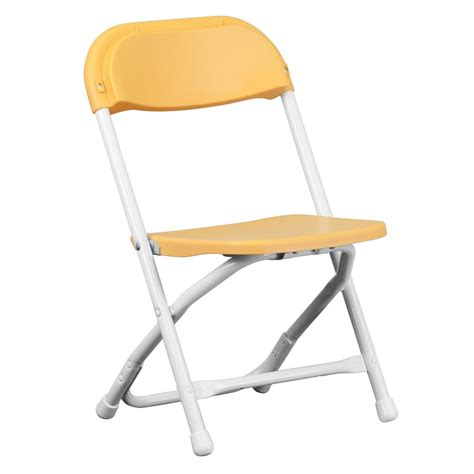 Plastic Folding Chairs Home Depot by Flash Furniture Yellow Plastic Folding Chair Ykidyl