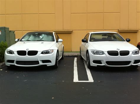Difference Between 328i And 335i Bmw by Difference Between E92 M3 Bumper And M Sport One