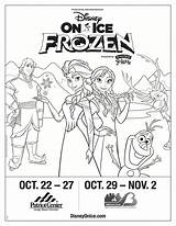 Disney Ice Win Frozen Enter Tickets Drawing Coloring Pack Presents Getdrawings Disneyonice sketch template