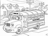 Bus Coloring Neighborhood Mr Hilarious sketch template