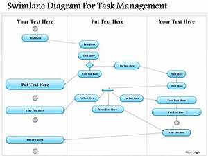 0814 business consulting diagram swimlane diagram for task With swimlanes in powerpoint template
