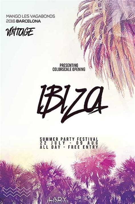 summer flyer templates free get free summer electro party template psd flyer