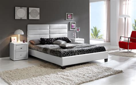 stylish black contemporary bedroom sets for white or gray