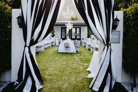 black  white outdoor party graduation garden party