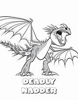 Stormfly Coloring Pages Train Dragon Getcolorings Printable Print sketch template