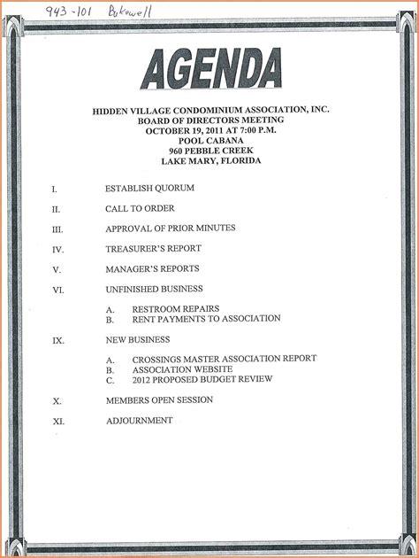 Agenda Template Template Minutes Agenda Template
