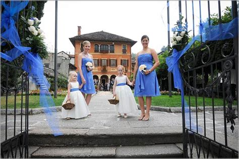 Blue And White Themed Wedding On Lake Orta Italy