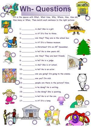 image result  wh questions exercises  beginners