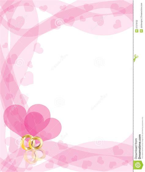 wedding rings  heart swirls border stock photography