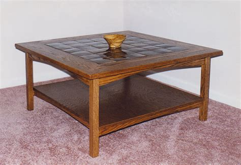 coffee table with tile top plan image mag