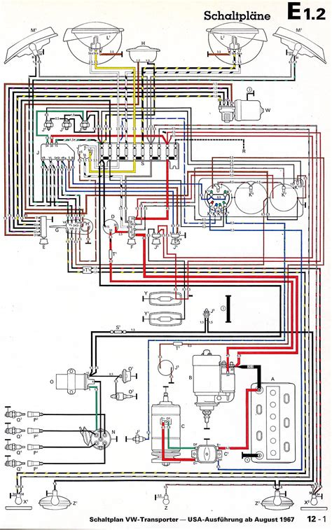 1968 vw wiring diagram kombi ideas vw volkswagen vw parts