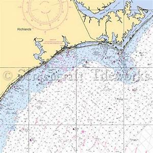 Cape Nautical Chart North Carolina Richlands Nautical Chart Decor