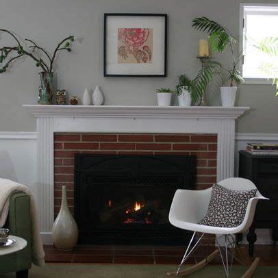 brick fireplace chair rail molding ideas living room chair rail molding