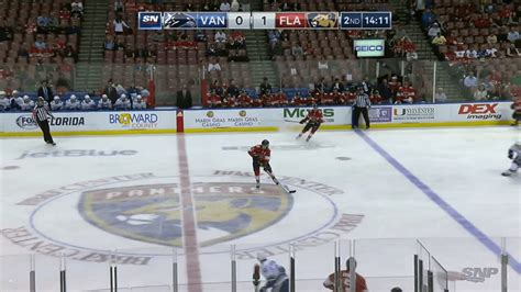 sixpack canucks play boring game  front   empty