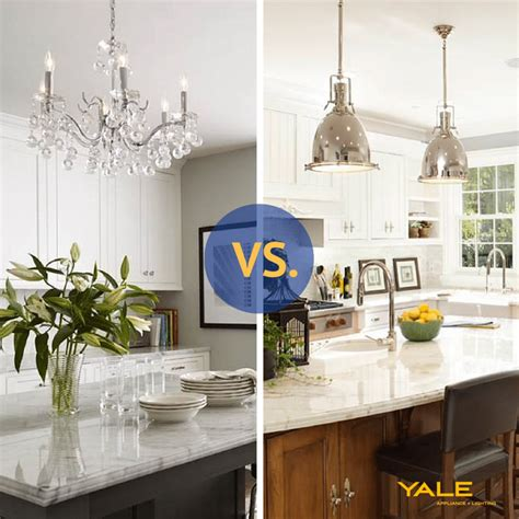 kitchen island with pendant lights pendants vs chandeliers a kitchen island reviews 8258