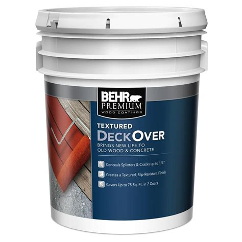 behr premium textured deckover 5 gal textured solid color exterior and concrete coating
