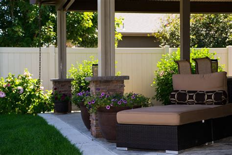 l shaped solid cover mediterranean patio boise by