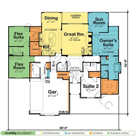dual master suite home plans single house plans with dual master suites cottage