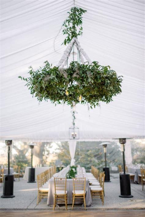 greenery wedding chandeliers whimsical  elegant wedding