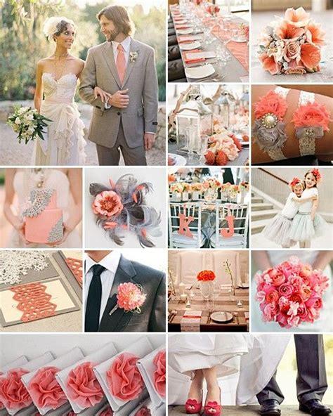 Coral And Grey Elegant Merriment Wedding Ideas