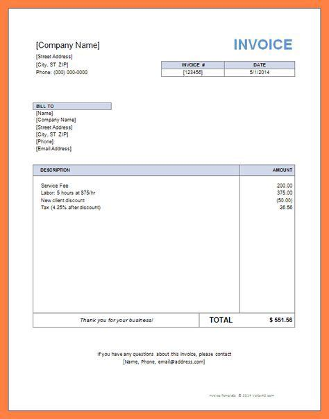 employed invoice template uk  invoice template