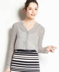 WornOnTV: Vanessa's black lattice printed blouse on Last ...