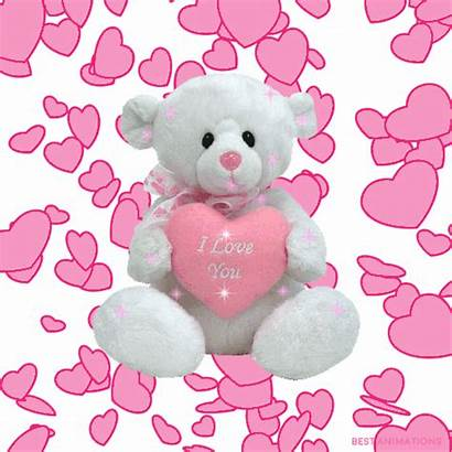 Teddy Bear Heart Gifs Bears Hugs Animations