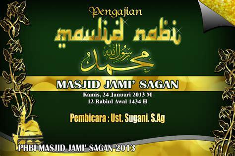 masjid jami sagan banner maulid