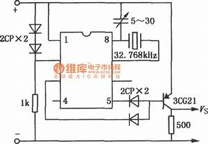 Timing Circuit Composed Of Quartz Electronic Clock Ic