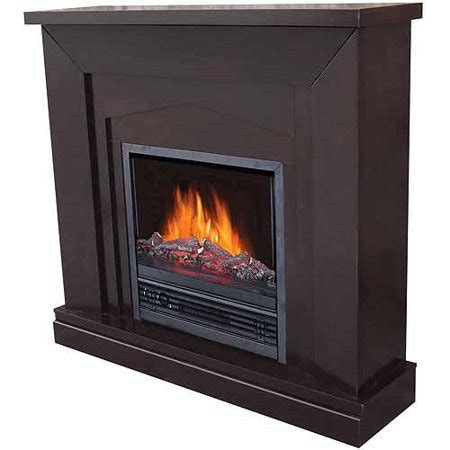 walmart electric fireplace electric fireplace with 47 quot mantle chocolate