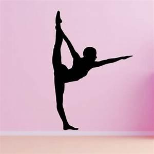 Gymnastics/Dancing Floor Pose Wall Decal Vivid Wall Decals