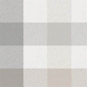 Gray and Taupe Buffalo Check Fabric by the Yard Gray