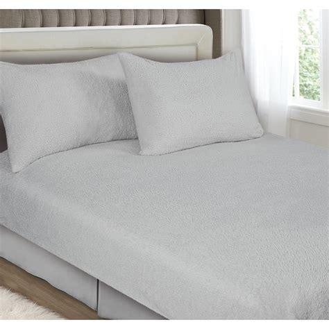 downland fleece fitted sheet set double bedding bm