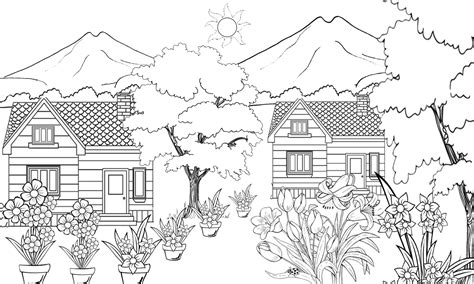 pesona alam desa pacewetan sketsa taman bunga dan
