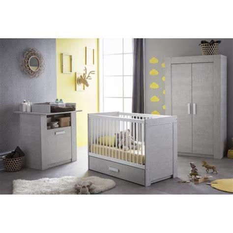chambre de bébé complete cherubin chambre bébé complète 4 pièces chêne bristol gris