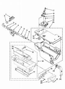 Dispenser Parts Diagram  U0026 Parts List For Model Wfw9400su01 Whirlpool