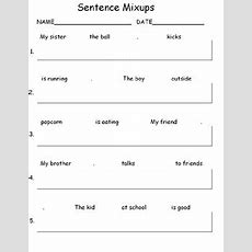 Sentence Writing Worksheets For Kids With Autism By Hailey Deloya