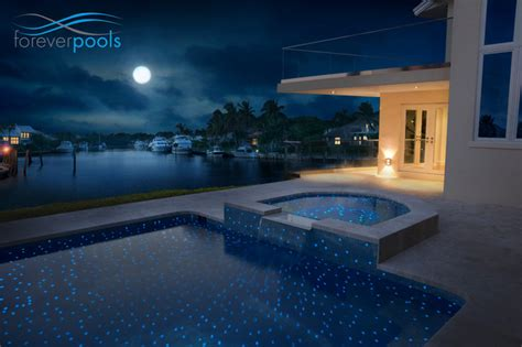 Glow In The Pool Tile by Glowing In The Glass Tile Pool Modern Miami By