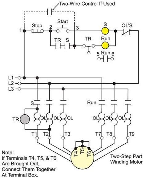 Part Winding Motor Starter Wiring controlling motor starting wiki odesie by tech transfer