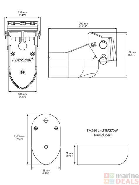 Garmin 160 Fishfinder Wiring Diagram by Buy Airmar Tm260 Transom Mount Transducer 1kw 50 200khz