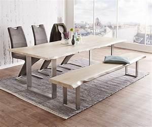 Baumtisch Live Edge : massivholztisch live edge akazie gebleicht 300 x 100 platte 3 5cm gestell schmal ebay ~ Sanjose-hotels-ca.com Haus und Dekorationen