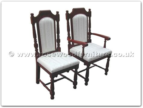 rosewood black wood dining side chair with fixed cushion