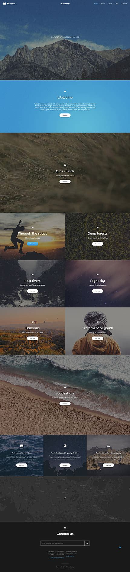 superior photographer responsive website template