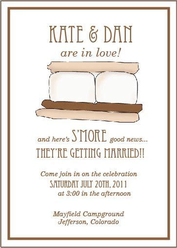 smore wedding invitation suite