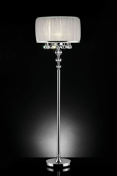 floor l unique floor chandelier l modern chrome pole floor l shade mid