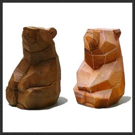 wood carving bear  papercraft  httpwww
