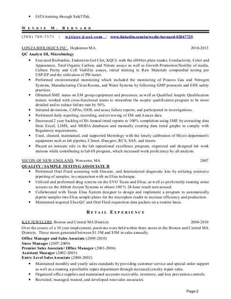 resume for department store sales associate