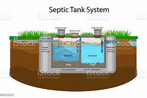 Septic Tank Diagram Septic System And Drain Field Scheme
