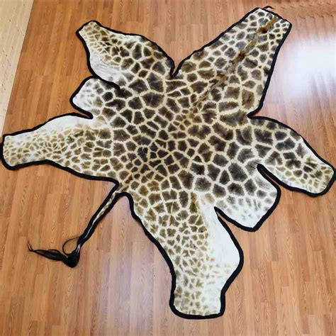 Skin Rug With by Giraffe Skin Rug Sw4773 For Sale At Safariworks Taxidermy